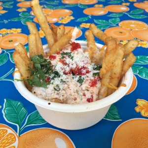 Ooey gooey fries at Chego in Chinatown.