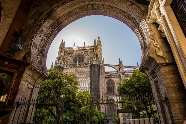 While on a walking tour through the old city in Seville we came across the Door of Forgiveness in the Cathedral of St ...