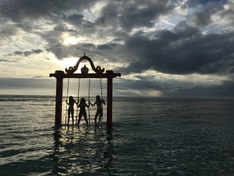 Last day of our Indonesian summer holiday. Sunset on Gili Trawangan with my daughters and daughter-in-law.