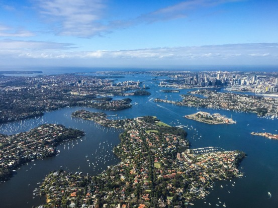 I took this image out of the airplane window on approaching Sydney airport. The conditions were ideal: A clear sunny ...