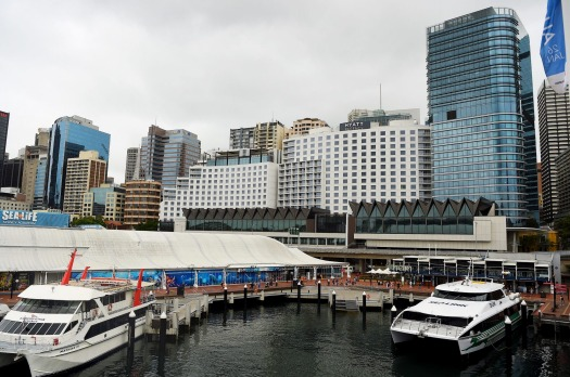 The view from Darling Harbour of the Hyatt Regency Sydney hotel, which has recently added 222 rooms, making it the ...