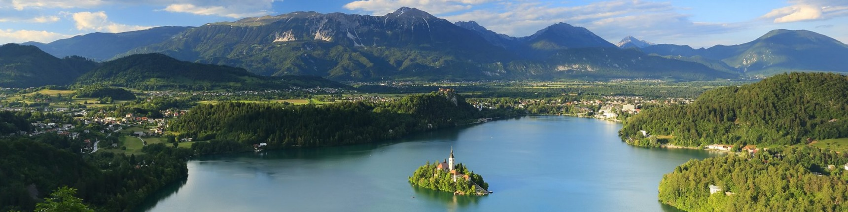 Bled Lake in Slovenia with the Assumption of Mary Church, Slovenia, Europe
