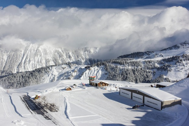 COURCHEVEL, FRANCE. In the French Alps at an altitude of 2000 metres, the runway at Courchevel is the equivalent of a ...