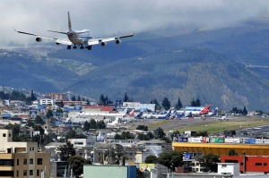 C062WC Boeing 747 landing at Mariscal Sucre international airport Quito Ecuador