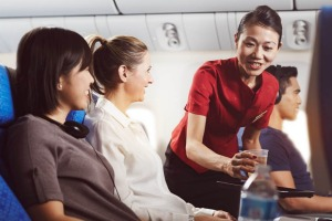 Cathay crew know how to handle awkward moments.