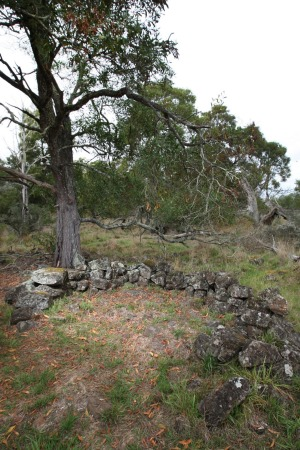 An original stone house site at Kurtonitj north of Tyrendarra.