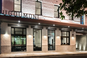 The Hougoumont Hotel, Fremantle stands behind the renovated facade of the former Duke of York Hotel.