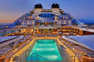 Seabourn Encore pool deck.