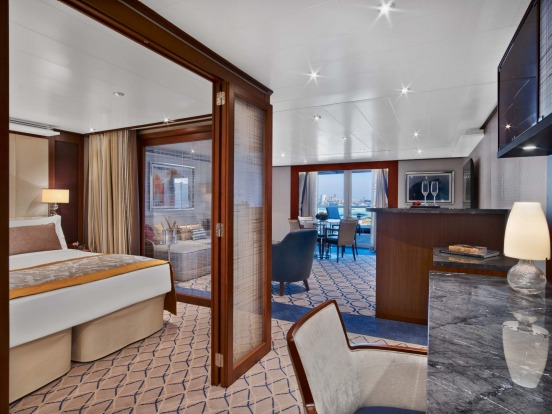 Seabourn Encore Penthouse Spa Suite: Seabourn's latest and largest cruise ship, carrying 600 passengers, started ...
