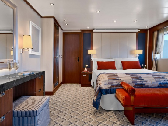 Seabourn Encore Signature Suite: Seabourn's latest and largest cruise ship, carrying 600 passengers, started operating ...