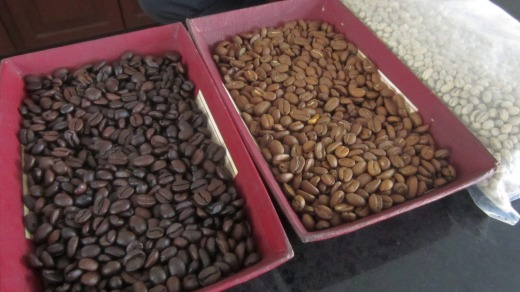 Roasted beans.