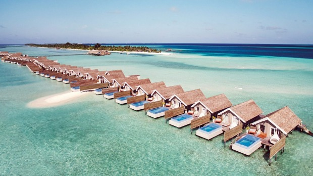 Overwater villas at Lux South Ari Atoll.