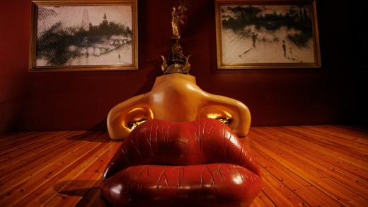 The Mae West room, Dali Museum, Figueres.