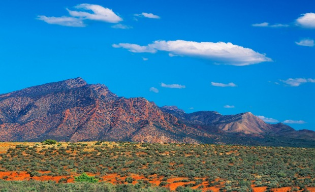 Wilpena Pound from Parachilna in the Flinders Ranges, South Australia.