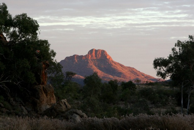 Hiking the Larapinta Trail in the West MacDonnell Ranges, NT.
