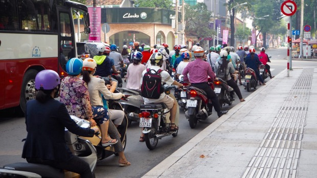 Whatever you do, don't stop: How to cross the road in Vietnam