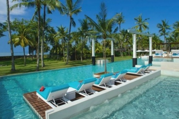 It's impossible not to relax at Club Med Bali's Zen pool.