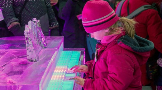 An ice piano at Montreal's Winter Festival.