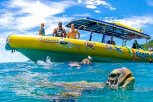 Snorkelling in Queensland's Airlie Beach.