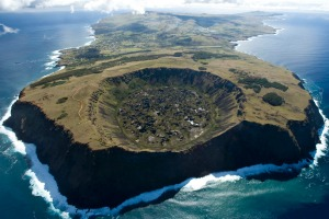 Easter Island's staple industry is tourism, which pulls in about 90,000 visitors a year.