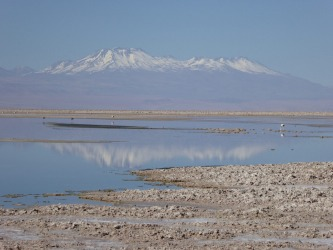 Dateline Chile. This photo was taken on the huge salt lake in the Atacama desert which is 100 km in length by 80 km ...