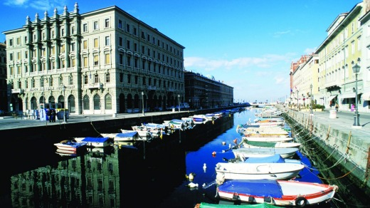 Canal Grande in Trieste, Italy.