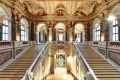 Staircases in the grand Kunsthistorisches Museum (Museum of Fine Arts), Vienna.