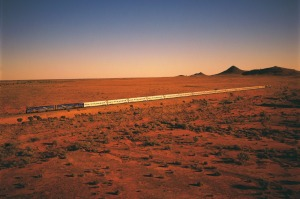 The Indian Pacific train near Broken Hill.