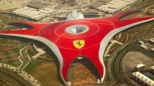 Ferrari World Park is the largest indoor amusement park in the world.
