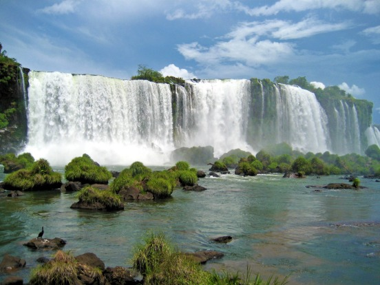 Iguazu Falls on the border of Argentina and Brazil.