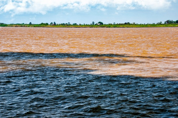The Meeting of Waters is the confluence between the Rio Negro, Amazon River.