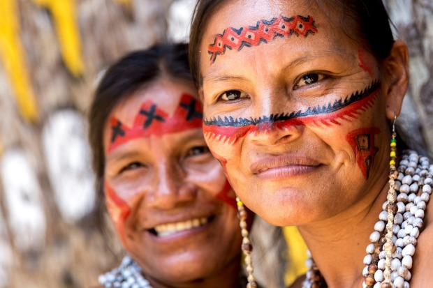 Native Brazilian women in the Amazon.