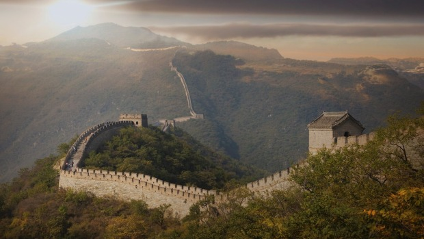 The Great Wall at Mutianyu, China.