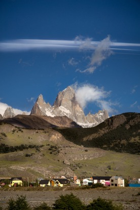 El Chalten, Argentina, home to the famous and spectacular Fitz Roy mountain range, presents amazing views regardless of ...
