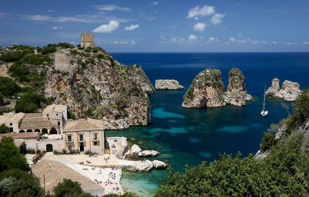 Tonnara di Scopello is an ancient tuna fishery near the hamlet of Scopello on Sicily's north west coast that today ...