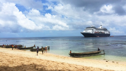 P&O Pacific Eden at the Trobriand Islands of Papua New Guinea.