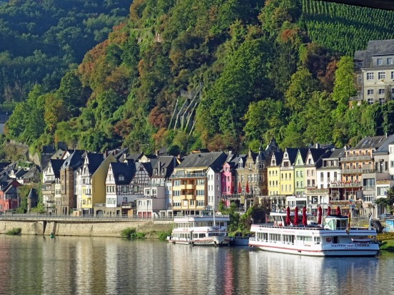The Cochem waterfront.