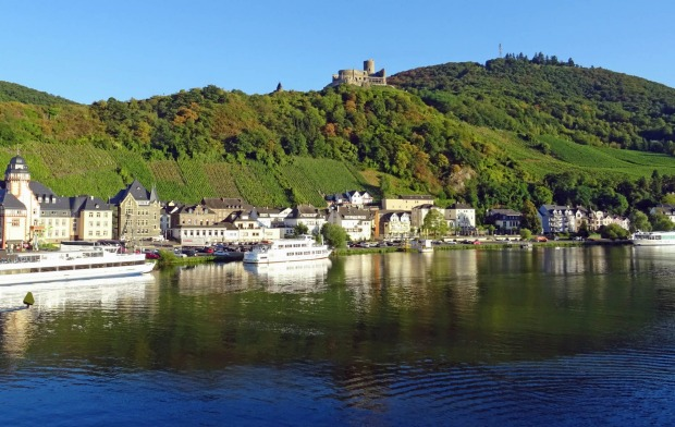 Bernkastel-Kues on the Moselle River.