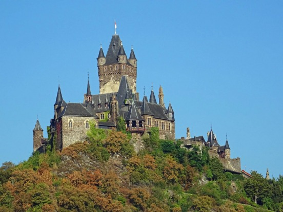 Reichsburg Castle on the Moselle River at Cochem.