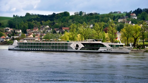 MS Savor cruises through the Bavarian town of Passau in  Germany.