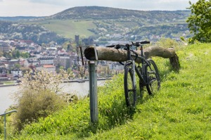 The easy life: Park your bike and enjoy the view.