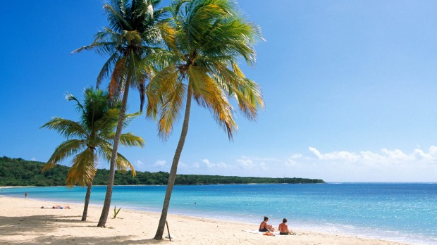 A pristine beach on Vieques Island.