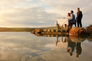 Dinner for two on the water at Spicers Hidden Vale retreat.