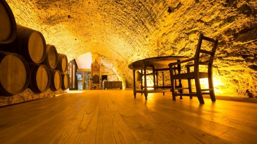 Deep-rooted history: A wine vault in Waterford.