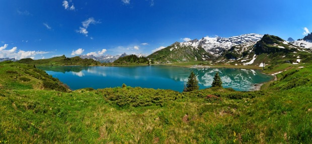 Lake Trubsee in Engelberg, Switzerland .