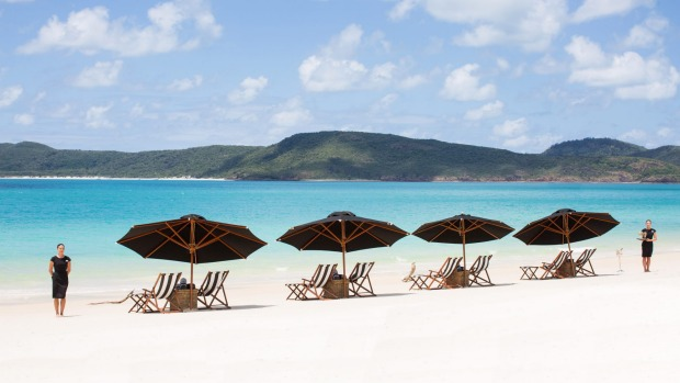 All you could wish for: Whitehaven Beach's powder-soft silica sand and clear blue sea.