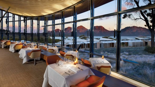 Dining in style at Saffire, Tasmania.