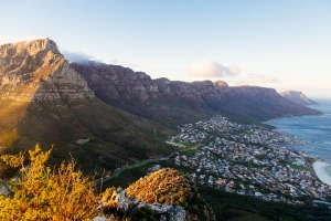 Table Mountain and the Twelve Apostles.