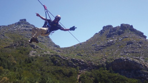 High above the ground with Cape Town Ziplines.