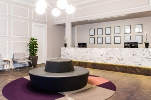 Astrology hotel: The Ultimo Hotel lobby.